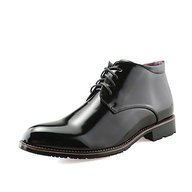 Homens sapatos Courino Primavera / Outono Inverno Clássico sapatos Bullock Curta / Ankle Botas da Moda Legal Conforto Botas Caminhada