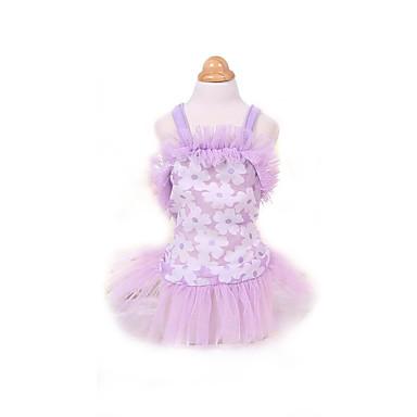 Šaty Oblečení pro psy Roztomilý Módní Princeznovské Fialová Růžová Kostým Pro domácí mazlíčky