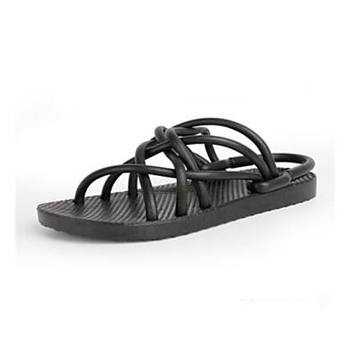 Herren Schuhe Gummi Mikrofaser Frühling Komfort paar Schuhe Sandalen Für Normal Weiß Schwarz Grau