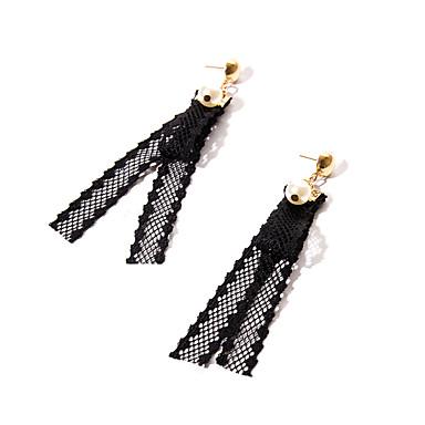 Damen Tropfen-Ohrringe Kreolen Schmuck Basis Einzigartiges Design Doppelschicht Vintage individualisiert Hypoallergen Euramerican