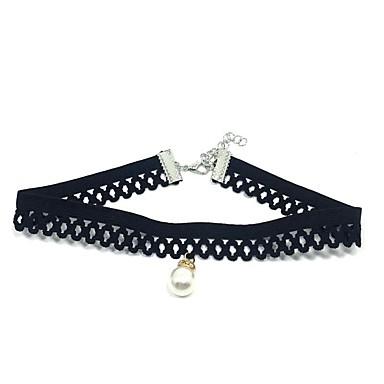 Dámské Kulatý Visací Klasické Obojkové náhrdelníky Imitace perly Krajka Obojkové náhrdelníky , Svatební Párty Zásnuby Sport Plážové