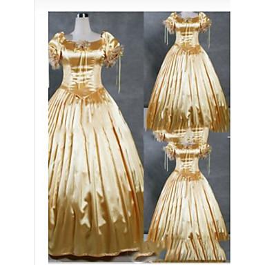 Góticas / Vitoriano / Medieval Ocasiões Especiais Mulheres Vestidos / Festa a Fantasia / Baile de Máscara Vintage Cosplay Cetim / Other