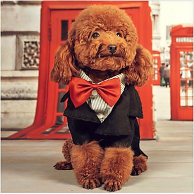 Hund Mäntel Smoking Hundekleidung Formaler Stil Niedlich Lässig/Alltäglich Geburtstag Cosplay Britisch Schwarz Kostüm Für Haustiere