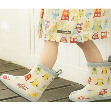 Mädchen Flache Schuhe Gelee Frühling Herbst PU Walking Normal Klettverschluss Niedriger Absatz Weiß Rosa Flach