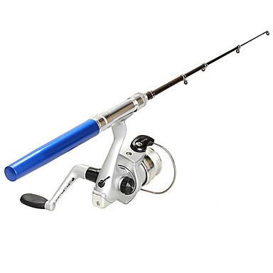 Liga de Alumínio Vara de Pesca de Gelo Fibra de Vidro Pesca no Gelo Varas + Molinetes de Pesca