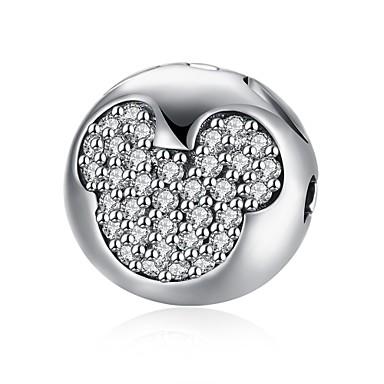 Damen Anhänger Kubikzirkonia Kreisförmig Geometrische Form Sterling Silber Zirkon Personalisiert Kreisförmiges Einzigartiges Design