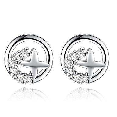 Damen Ohrstecker Tropfen-Ohrringe Kreolen Strass Personalisiert Luxus Kreisförmiges Einzigartiges Design Klassisch Retro Strass Böhmische