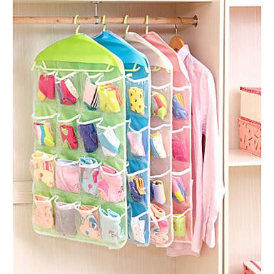 Plástico Multifunções Casa Organização, 1conjunto Cestos de Armazenamento Cabides Sacos de Armazenamento