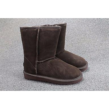 Naiset Kengät Mokkanahka PU Kevät Talvi Bootsit Käyttötarkoitus Suklaa Musta Keltainen