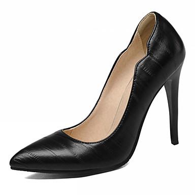 Mulheres Sapatos Courino / Couro Ecológico Verão / Outono Conforto / Inovador / Sapatos formais Saltos Caminhada Salto Agulha Dedo