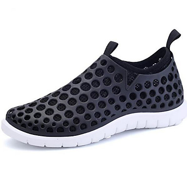 Miehet Kengät PVC Kevät Comfort Sandaalit Käyttötarkoitus Kausaliteetti Musta Valkoinen/sininen