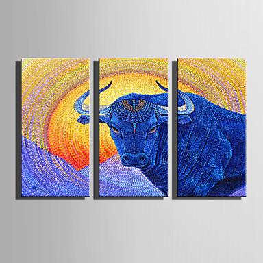 Tiere Modern Europäischer Stil, Drei Paneele Segeltuch Vertikal Druck Wand Dekoration Haus Dekoration