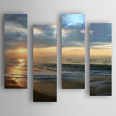 Handgemalte Abstrakt Horizontal, Neuankömmling Modern/Zeitgenössisch Segeltuch Hang-Ölgemälde Haus Dekoration Vier Panele