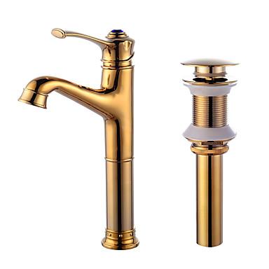Integroitu Keraaminen venttiili Kulta , Kylpyhuone Sink hana