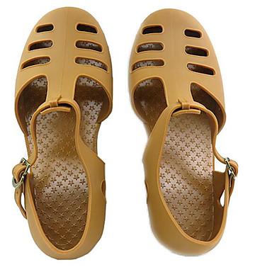 Pánské Sandály Pohodlné Jaro PVC Ležérní Černá Hnědá Zelená Plochý