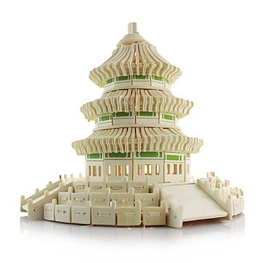 voordelige 3D-puzzels-3D-puzzels Chinese architectuur tempel van de Hemel Hout Unisex Speeltjes Geschenk