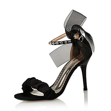 300d35d9c49 Γυναικεία Συνθετικό / Μετάξι / Γκλίτερ Άνοιξη / Καλοκαίρι Παπούτσια club  Σανδάλια Τακούνι Στιλέτο Τεχνητό διαμάντι