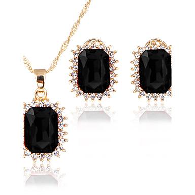 Mulheres Zircônia cúbica Zircônia Cubica Conjunto de jóias 1 Colar 1 Par de Brincos - Clássico Euramerican Fashion Adorável Estilo simples
