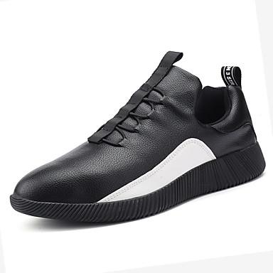 Pánské Obuv PU Jaro Podzim Pohodlné Atletické boty Šněrování pro Venkovní Bílá Černá