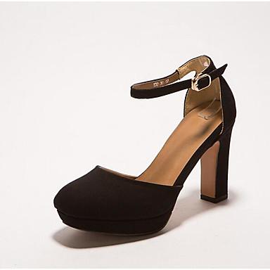 Naiset Kengät Synteettinen mikrokuitu PU Kevät Comfort Sandaalit Käyttötarkoitus Kausaliteetti Musta Harmaa Manteli