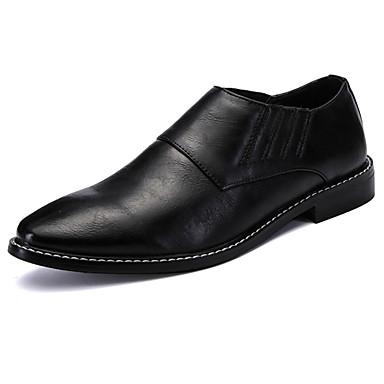Homens sapatos Couro Ecológico Primavera Outono Conforto Mocassins e Slip-Ons para Casual Preto Vermelho