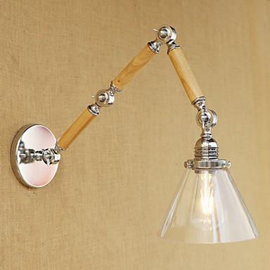 Regional Retro Swing Arm Lights Para Metal Luz de parede 220-240V 100-120V 60W