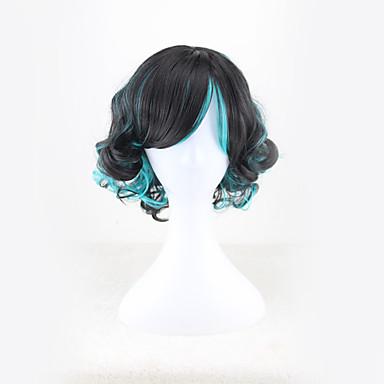 Cabelo Sintético perucas Ondulado Sem Touca Peruca para Cosplay Curto