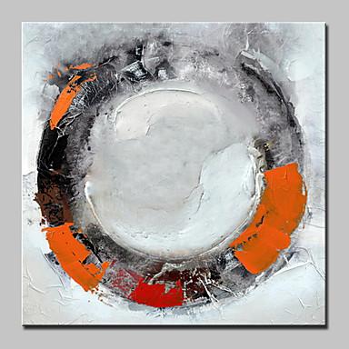 Maalattu Abstrakti Neliö, Abstrakti Moderni Kangas Hang-Painted öljymaalaus Kodinsisustus 1 paneeli