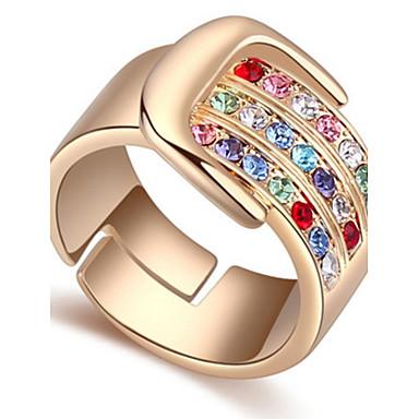 Dámské manžeta Ring Prsten Křišťál Přizpůsobeno Luxus Kruhy Jedinečný design Klasické Vintage Kamenina Cikánské Základní kruh přátelství