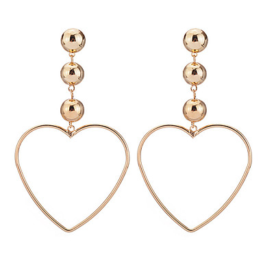 Women's Hollow Out Drop Earrings - Silver Plated, Gold Plated Heart Personalized, Dangling Style, Classic Gold / Silver For Christmas Gifts / Wedding / Party
