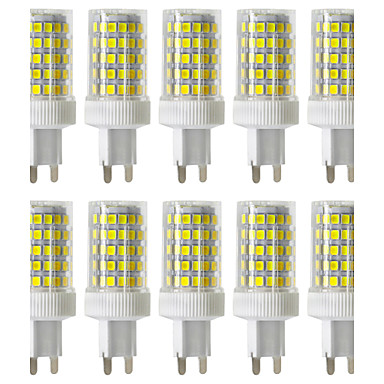 YWXLight® Dimmable 10W G9 LED Bi-pin Lights 86 SMD 2835 850-950lm Warm White Cold White Natural White 2800/4000/6000K 220V