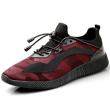 Homens sapatos Tule Primavera Outono Tênis Corrida Combinação para Branco/Preto Preto/Vermelho Black / azul