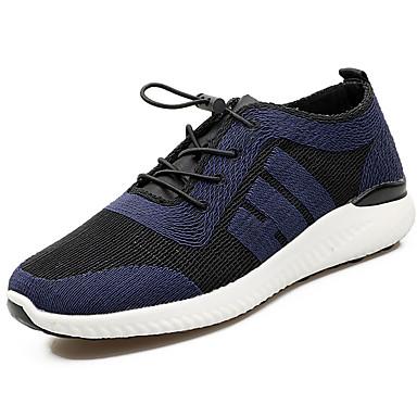 Pánské Obuv Tyl Jaro Podzim Atletické boty Chůze Rozdělení pro Černá Stříbrná Námořnická modř