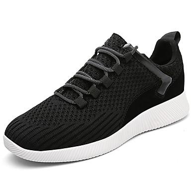 Homens sapatos Couro Ecológico Primavera Outono Conforto Tênis para Ao ar livre Preto Cinzento