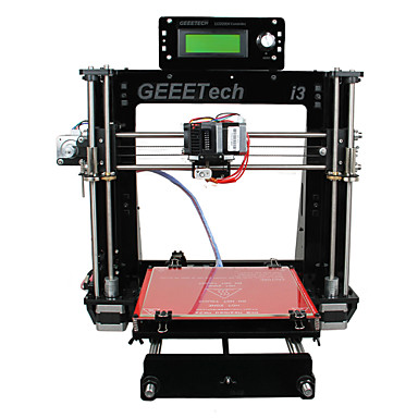 Geeetech 8mm Acrylic RepRap Prusa Mendel I3 3D Printer DIY Kit 1.75mm Filament / 0.3mm Nozzle
