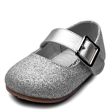 Para Meninas sapatos Courino Primavera Outono Sapatos para Daminhas de Honra Conforto Rasos Velcro para Casamento Casual Festas & Noite