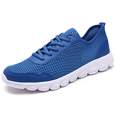 Homens sapatos Tule Primavera Outono Tênis Cadarço para Preto Cinzento Azul Real
