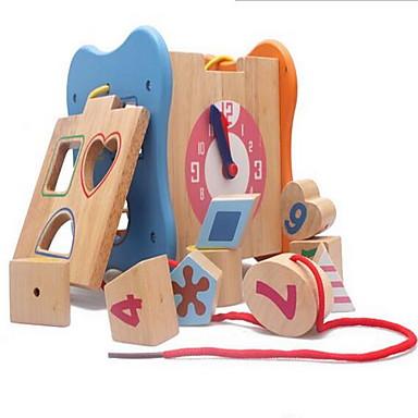 voordelige Rekenspeelgoed-Speelgoedtelraam Steekpuzzels Houten klok speelgoed Rekenspeelgoed Educatief speelgoed Speeltjes Vierkant Milieuvriendelijk Onderwijs Hout
