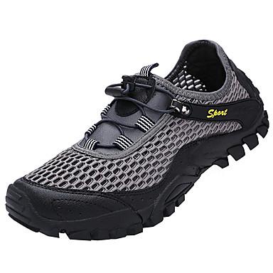 Homens sapatos Malha Respirável / Tule Primavera / Verão Conforto Tênis Corrida Cinzento / Azul / Khaki