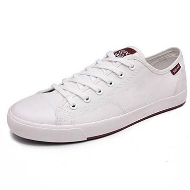 Herren Schuhe Leinwand Frühling Komfort Sneakers Für Normal Weiß