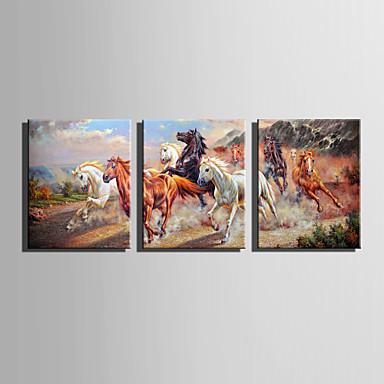 Tela de impressão 3 Painéis Tela Vertical Estampado Decoração de Parede For Decoração para casa