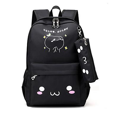 Naisten Kassit Oxford-kangas Backpack Röyhelöity Musta / Punastuvan vaaleanpunainen / Fuksia
