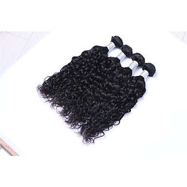 Brazilian Hair Natural Wave Human Hair Weaves 4 Pieces Natural Color Hair Weaves