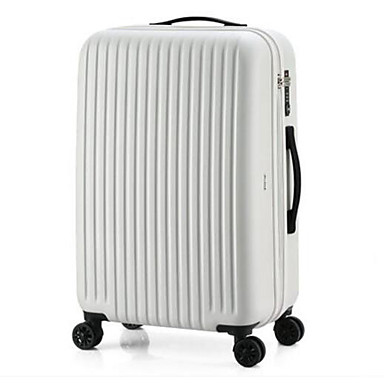 Unisex Luggage Polyester PC All Seasons Casual Outdoor Rectangle Zipper White Black