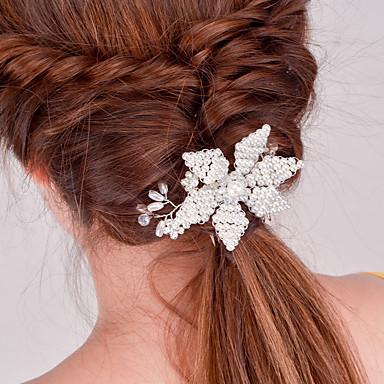 Europa e os Estados Unidos comércio exterior moda acessórios de cabelo noiva ornamentos de jantar artesanato joker pérola cristal hairpin