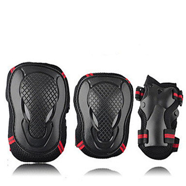 Adult Knee Pads + Elbow Pads + Wrist Pads for Roller Skates Skateboarding Inline Skates Protective Lightweight 6 pack PU