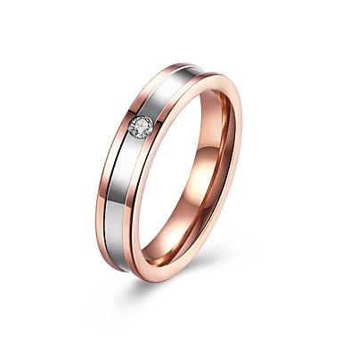 Women's Ring AAA Cubic Zirconia Rose Gold Copper Chrome Round Geometric Irregular Personalized Luxury Geometric Circular Unique Design
