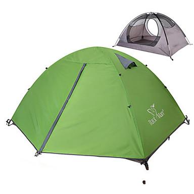 2 personer Telt Dobbelt camping Tent Ett Rom Brette Telt Regn-sikker Støvtett Sammenleggbar til Camping & Fjellvandring Utendørs