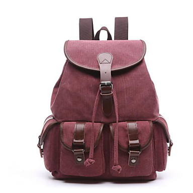 Women's Bags Canvas Backpack for Casual All Seasons Coffee Wine Azure