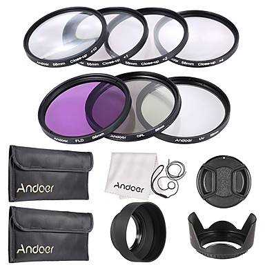 Andoer 58mm UV  CPL  FLD  Close-up(1 2 4 10)